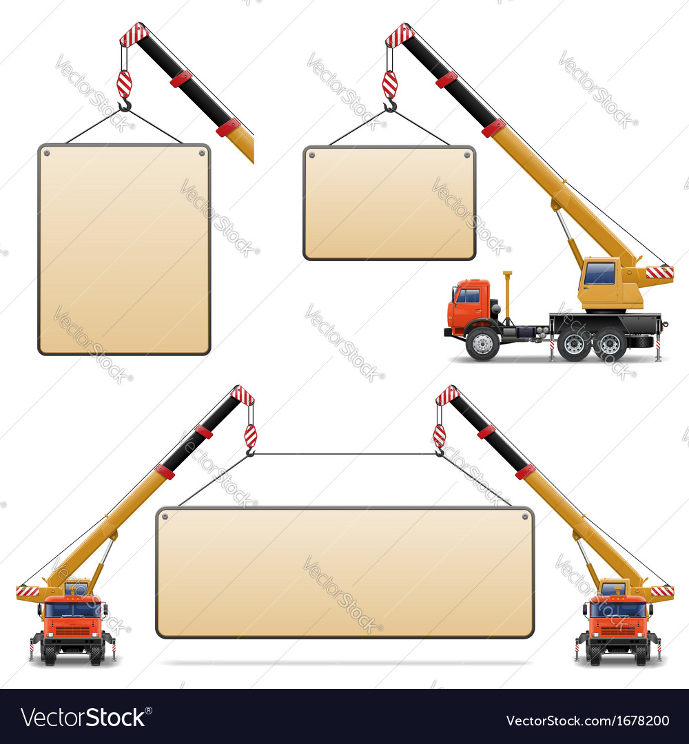 Construction machines set 6 vector | Price: 1 Credit (USD $1)