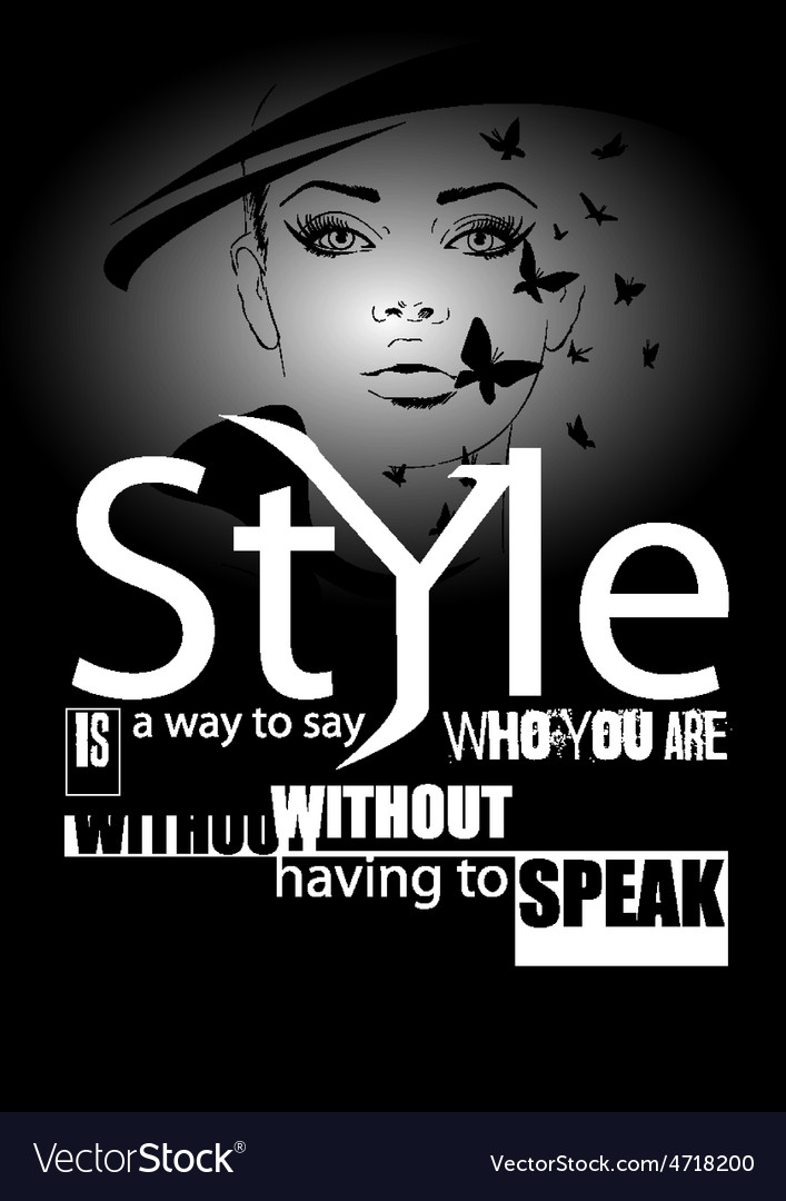 Fashion quote with modern girl vector