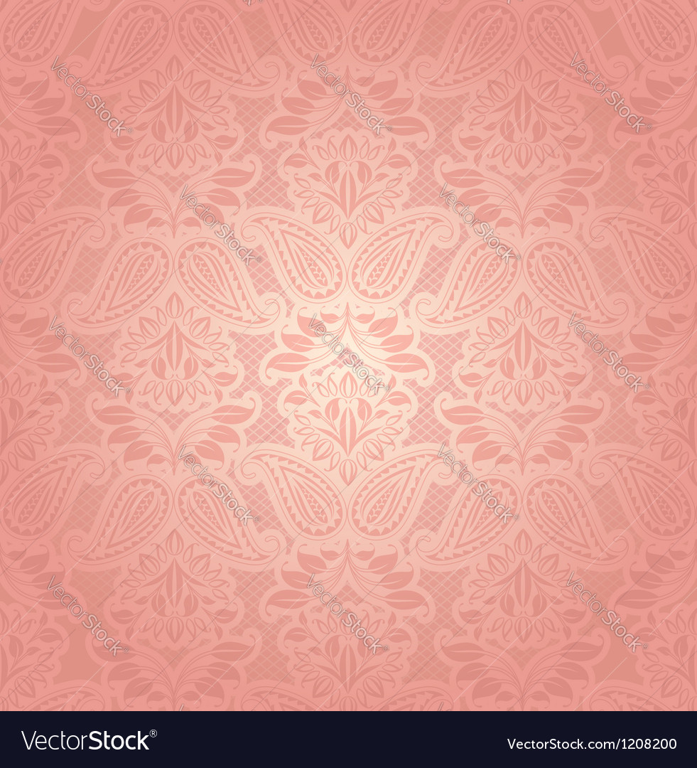 Lace pink floral background vector | Price: 1 Credit (USD $1)