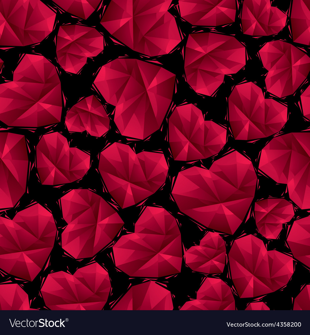 Red hearts seamless pattern geometric contemporary vector   Price: 1 Credit (USD $1)