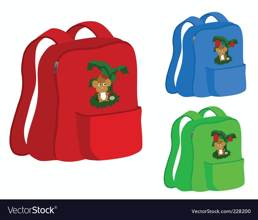 School satchel vector | Price: 1 Credit (USD $1)