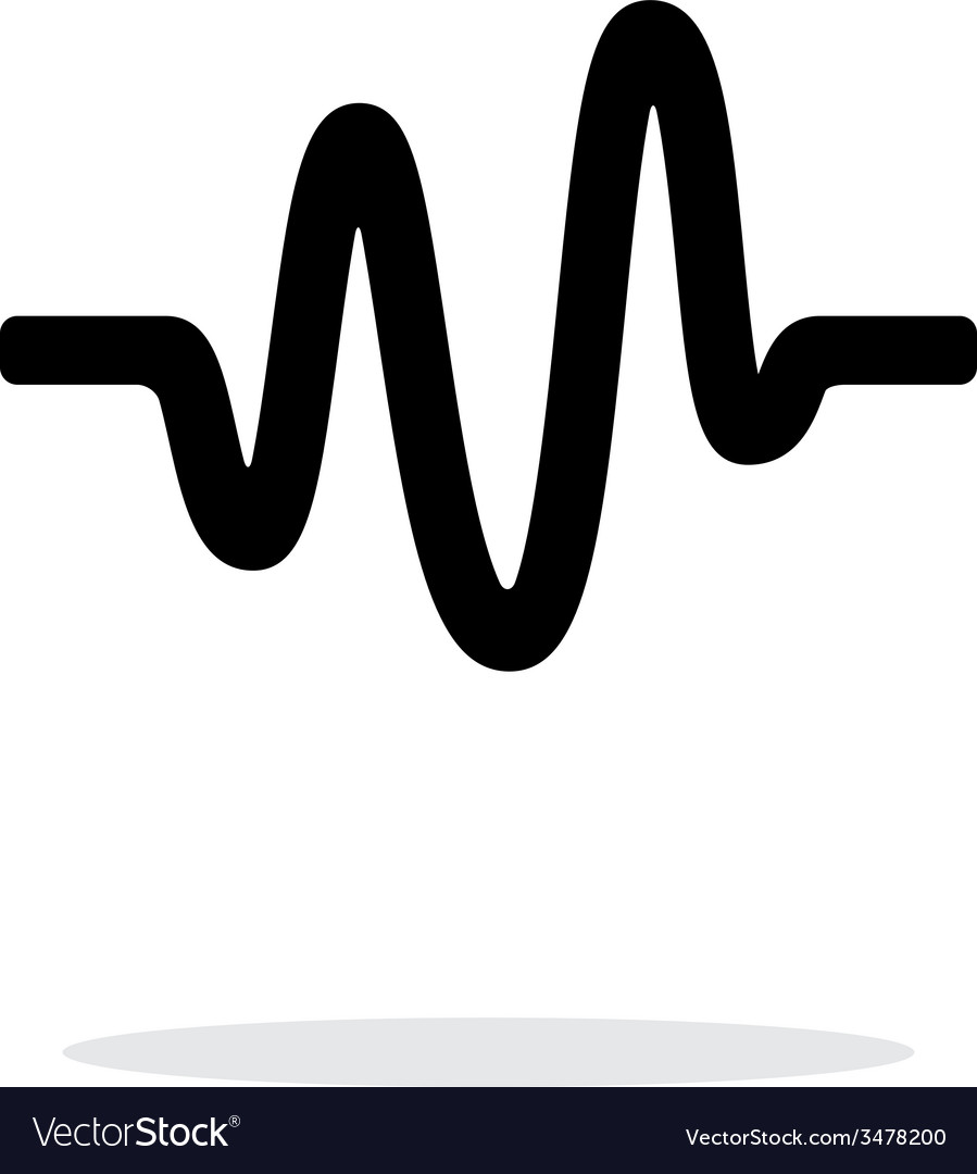 Sound wave icon on white background vector | Price: 1 Credit (USD $1)