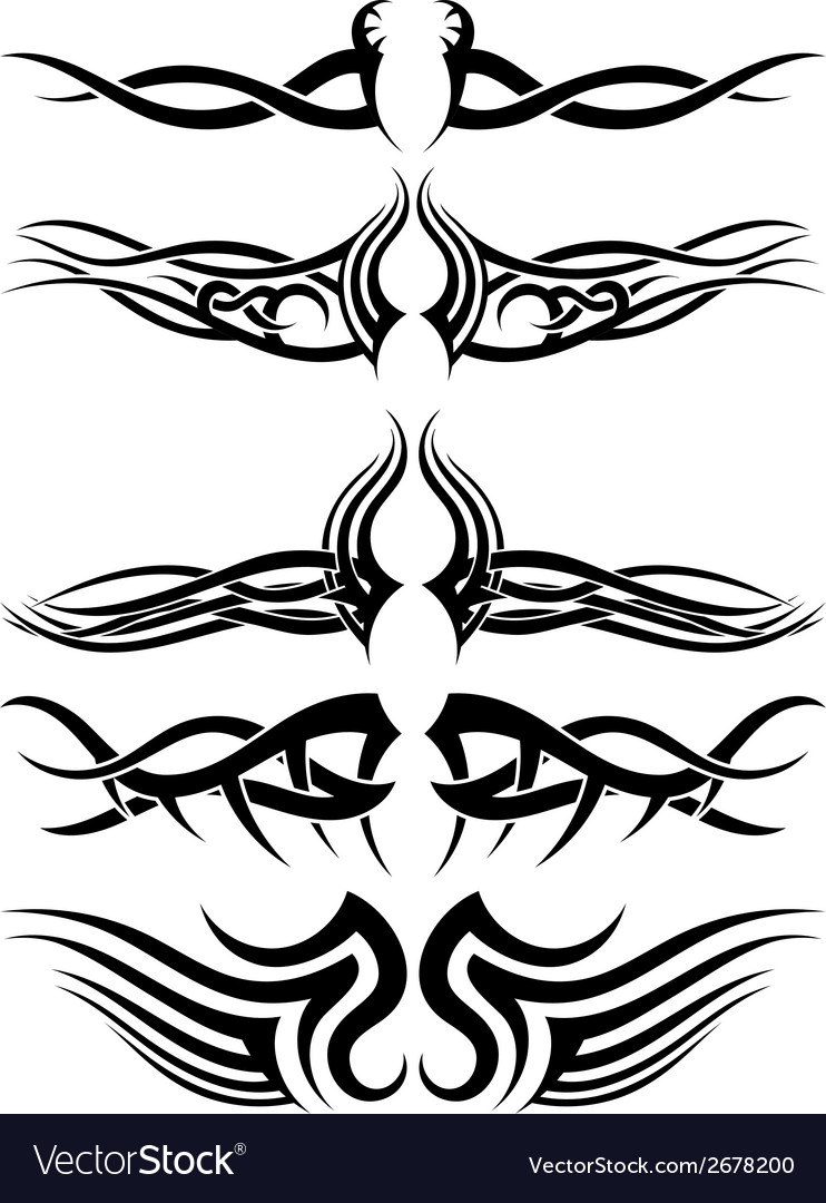 Tribal tattoos vector | Price: 1 Credit (USD $1)