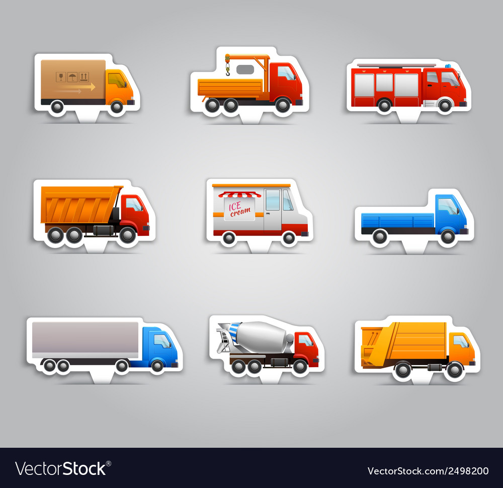 Truck paper stickers vector | Price: 1 Credit (USD $1)
