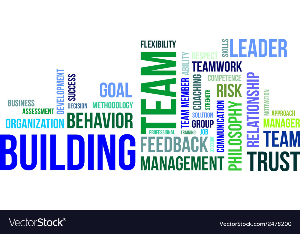 Word cloud team building vector | Price: 1 Credit (USD $1)