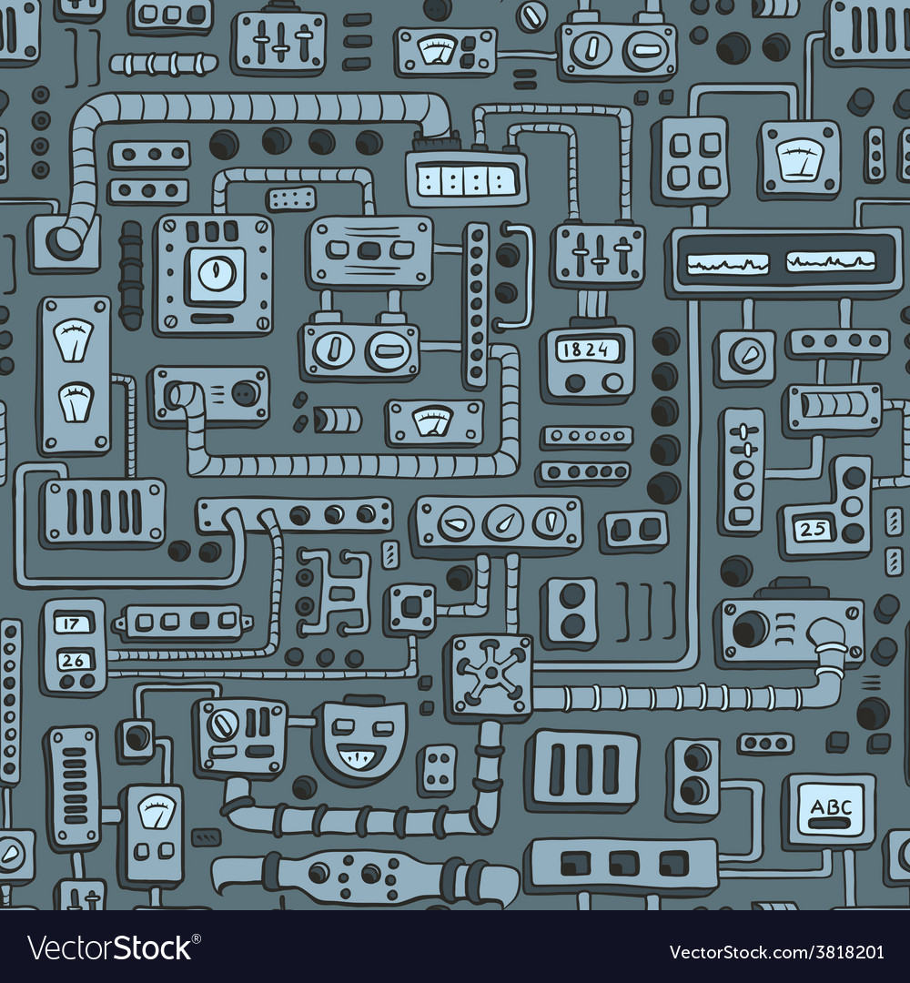 Appliances seamless pattern vector | Price: 1 Credit (USD $1)