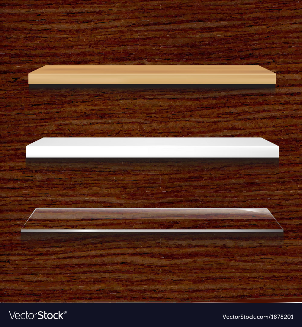 Different shelves set vector | Price: 1 Credit (USD $1)