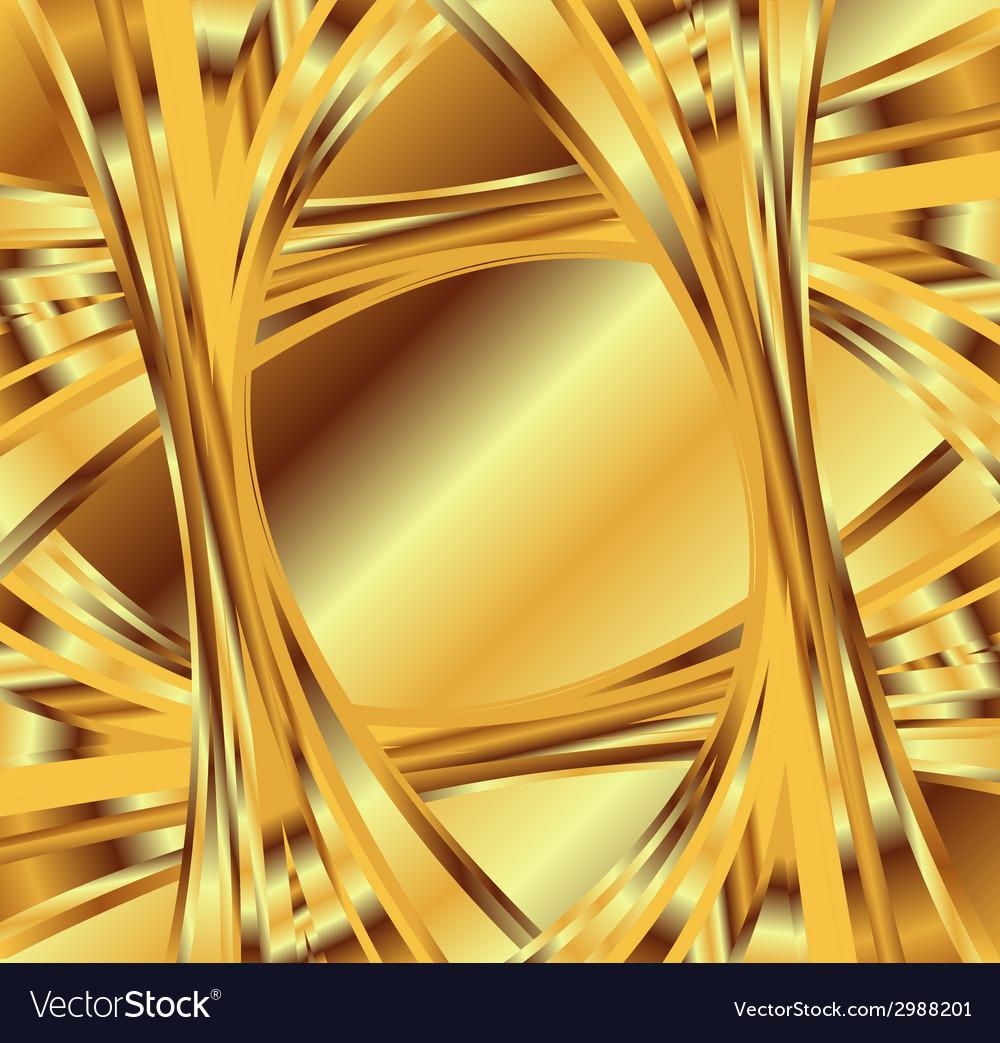 Golden yellow wave swirl background vector | Price: 1 Credit (USD $1)