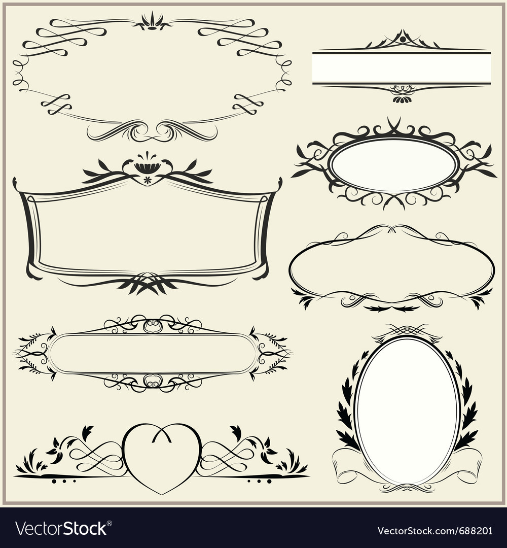 Ornamental and page decoration elements vector | Price: 1 Credit (USD $1)