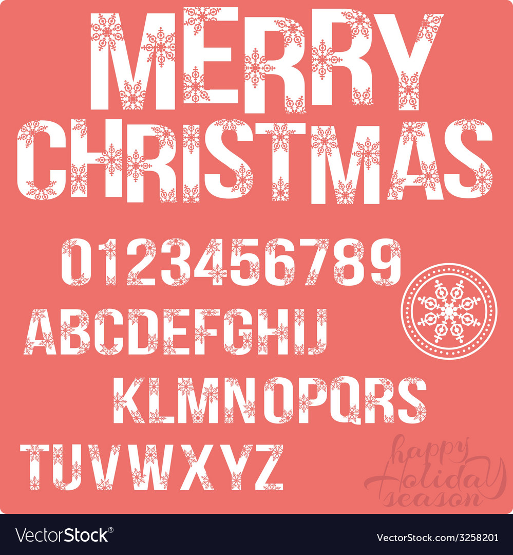 Set of christmas stylized alphabet and numbers vector | Price: 1 Credit (USD $1)