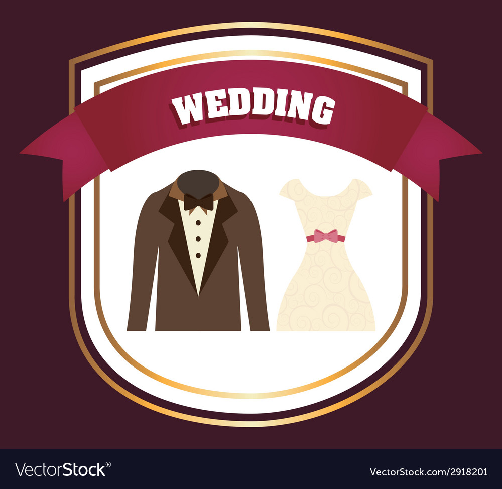 Wedding label vector   Price: 1 Credit (USD $1)