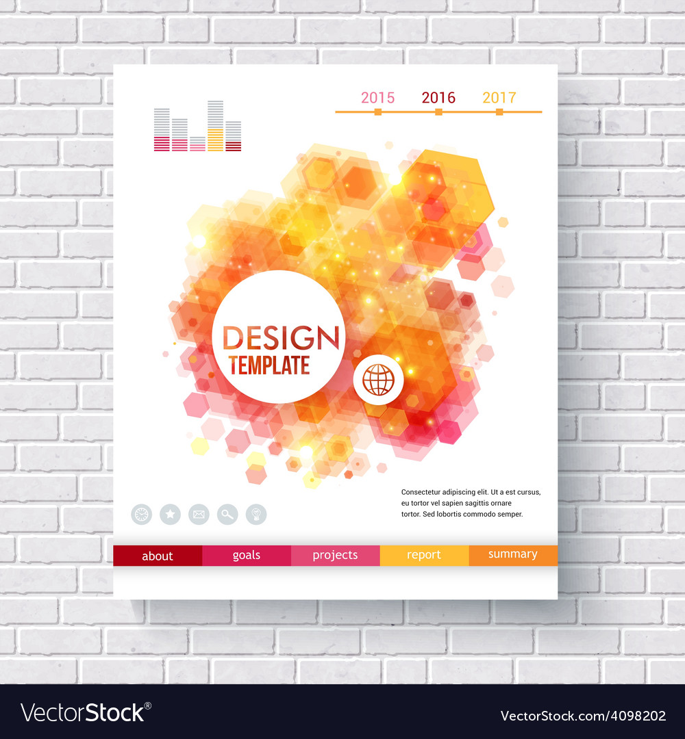 Abstract hexagonal pattern design template vector | Price: 1 Credit (USD $1)