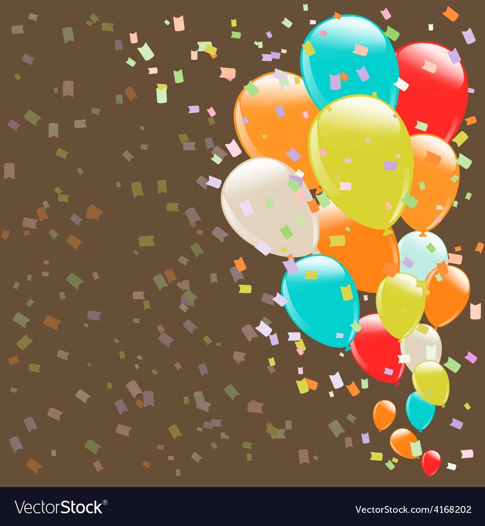 Balloons background retro vector   Price: 1 Credit (USD $1)