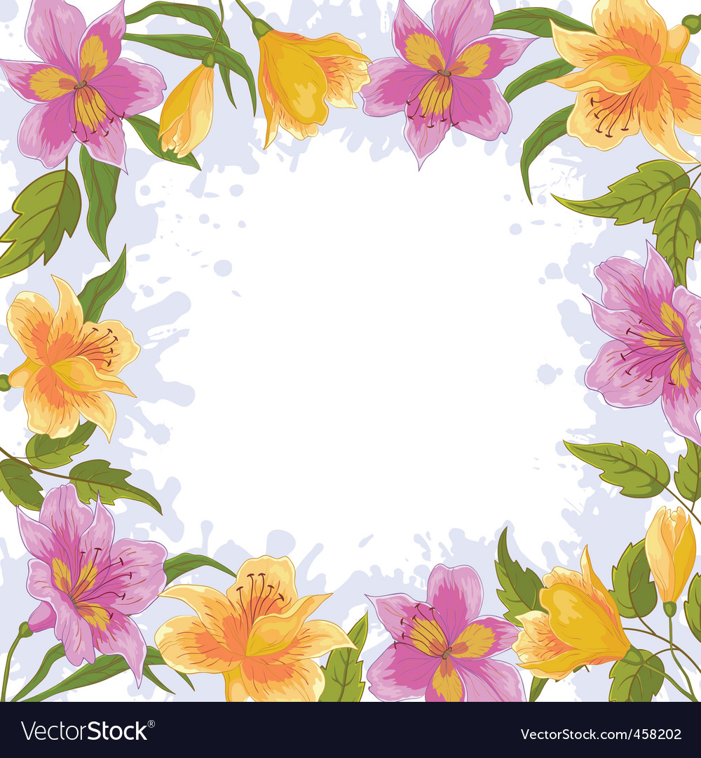 Border from flowers vector | Price: 1 Credit (USD $1)
