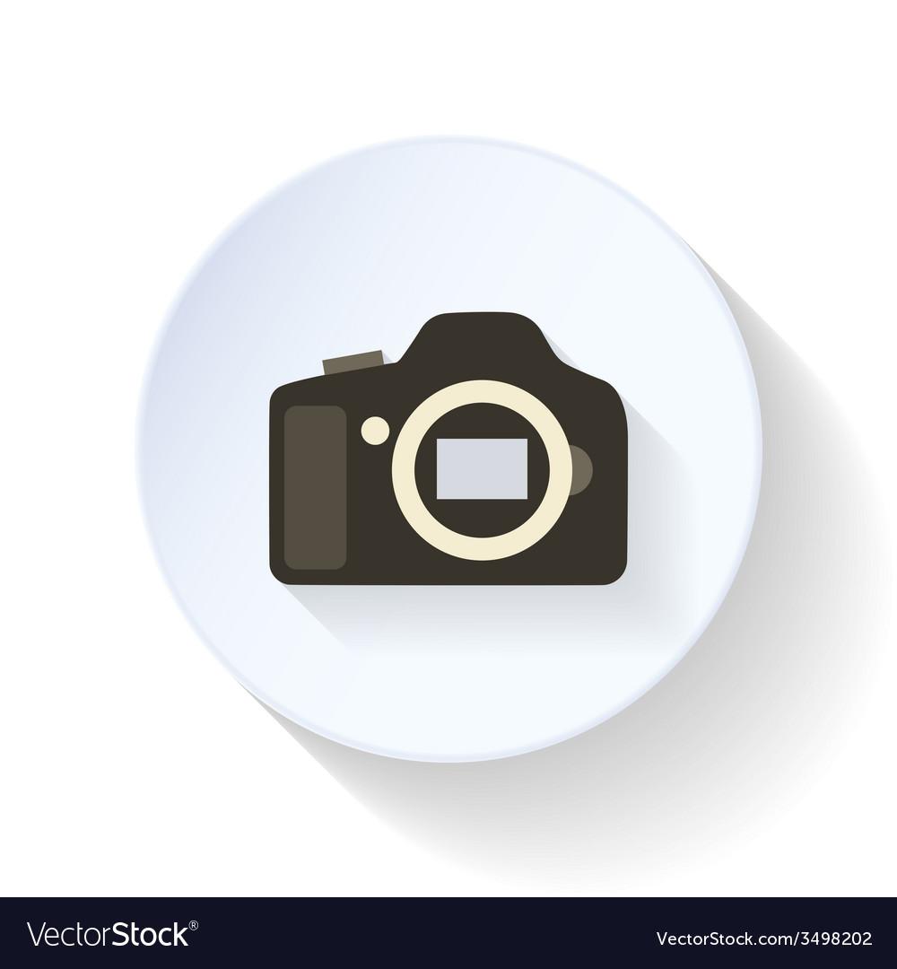 The camera body flat icon vector | Price: 1 Credit (USD $1)