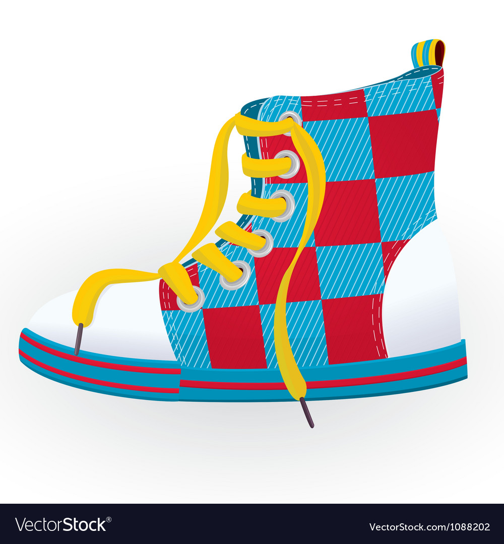 Checked sneaker vector | Price: 1 Credit (USD $1)