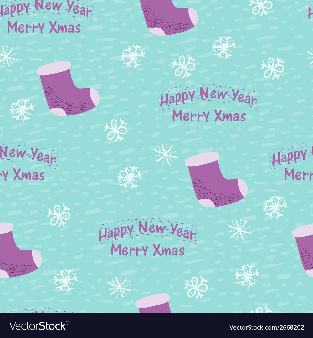 Christmas and new year seamless background vector | Price: 1 Credit (USD $1)