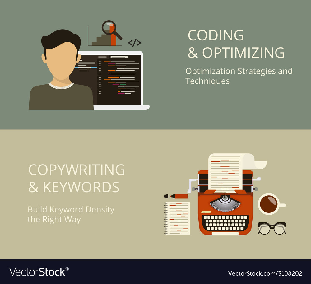 Coding and copywriting vector | Price: 1 Credit (USD $1)