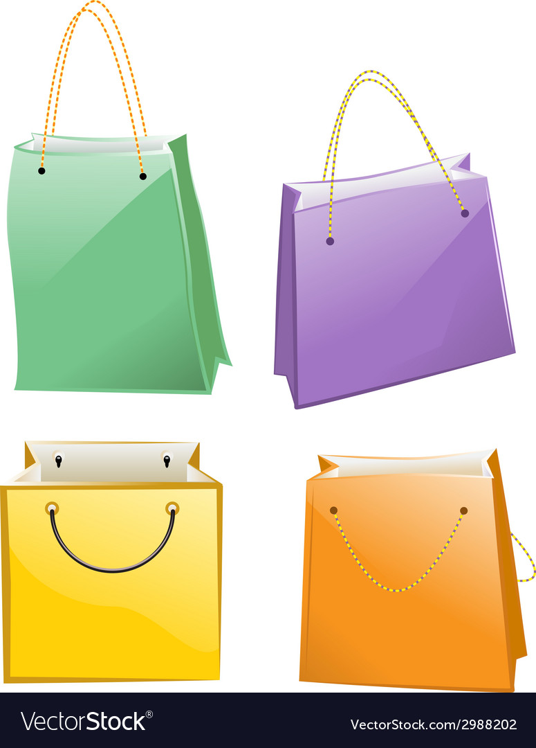 Paper bag for shopping vector | Price: 1 Credit (USD $1)
