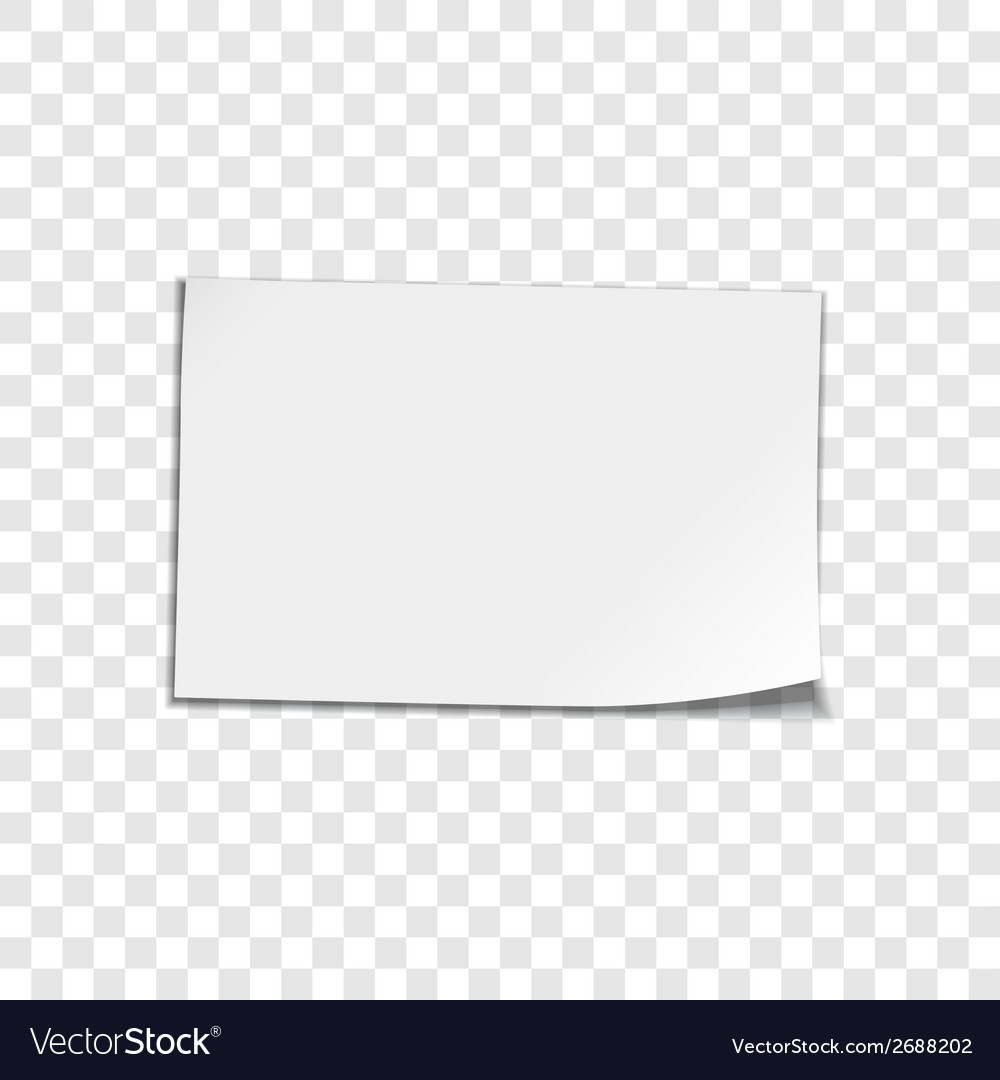 Paper sheet on transparent background vector | Price: 1 Credit (USD $1)