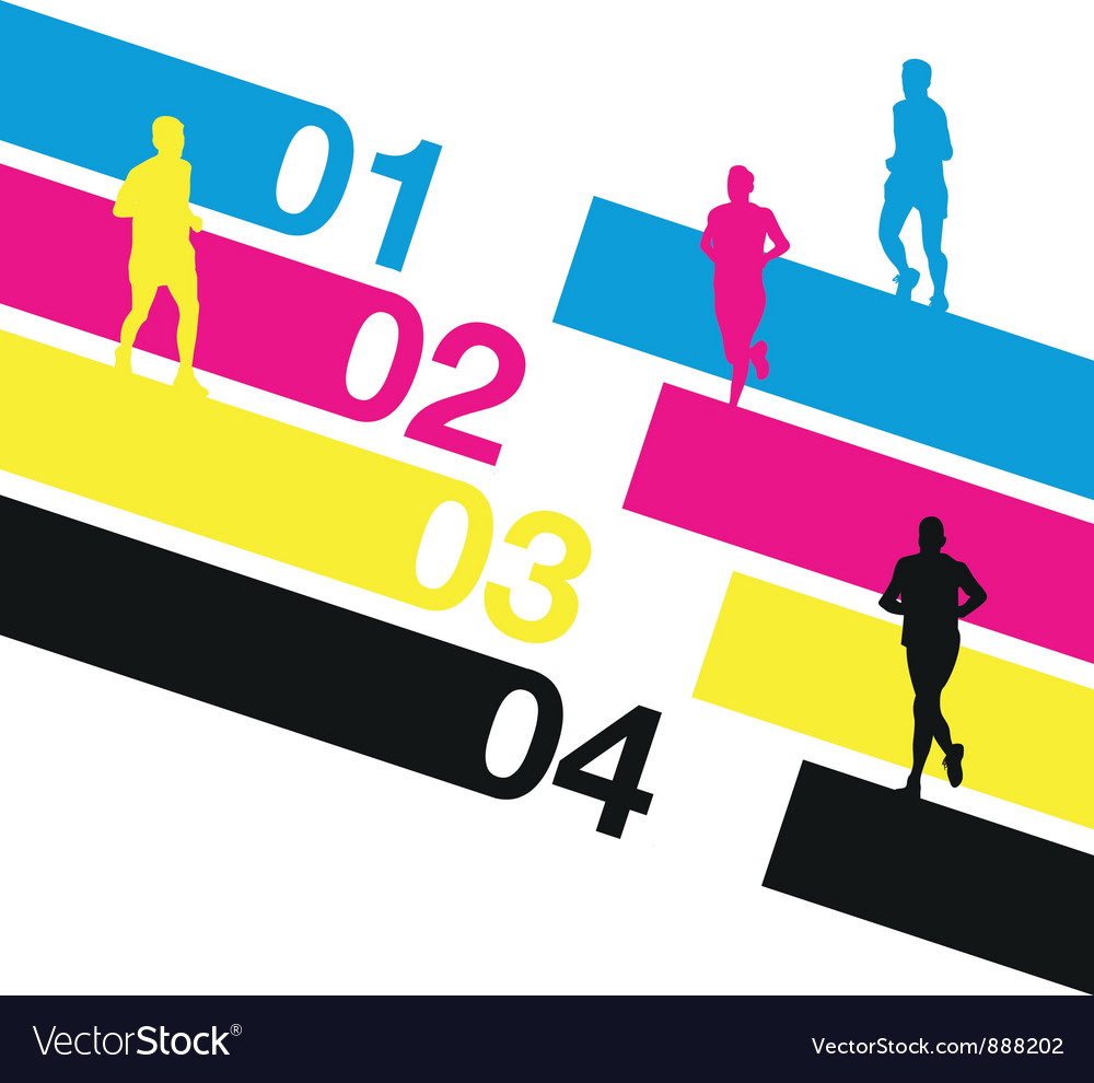 Runners numbers vector | Price: 1 Credit (USD $1)