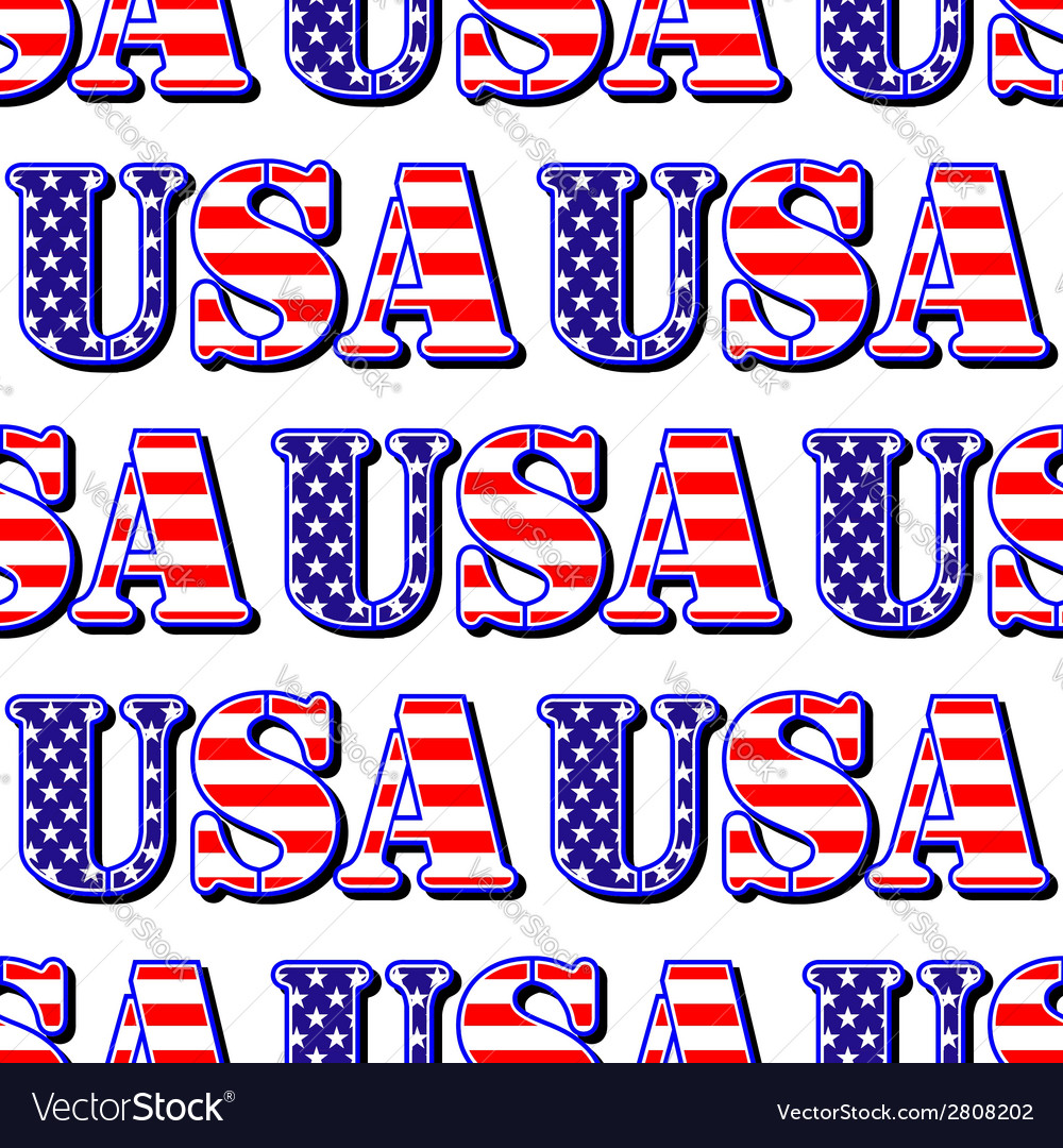 Usa sign symbol seamless pattern vector | Price: 1 Credit (USD $1)