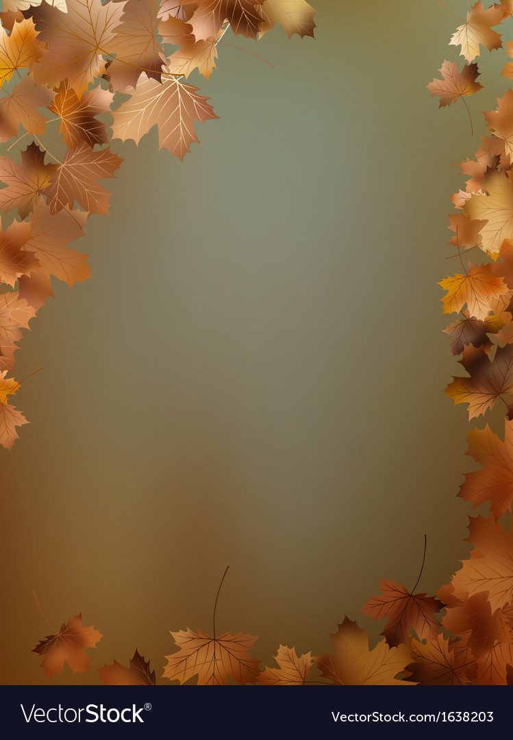 Autumn leaves background template eps 10 vector | Price: 1 Credit (USD $1)