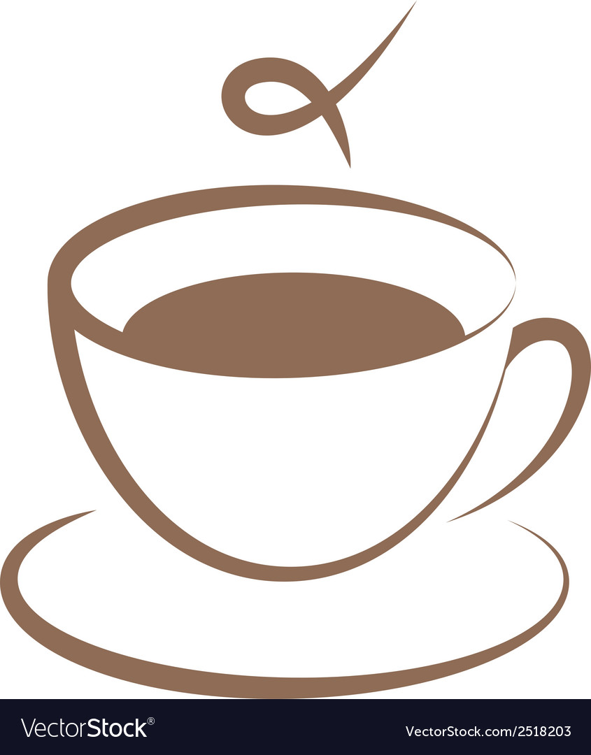 Coffee cup sign vector | Price: 1 Credit (USD $1)
