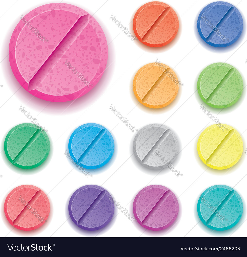 Colorful drug pills vector | Price: 3 Credit (USD $3)