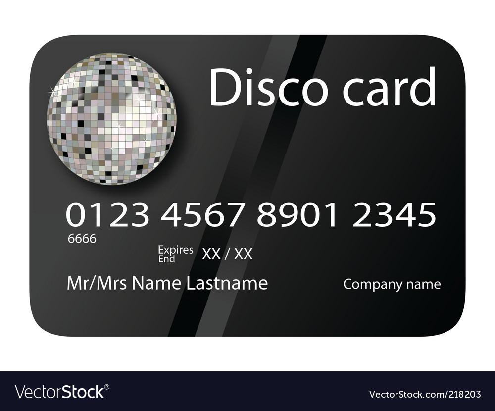 Disco card vector | Price: 1 Credit (USD $1)