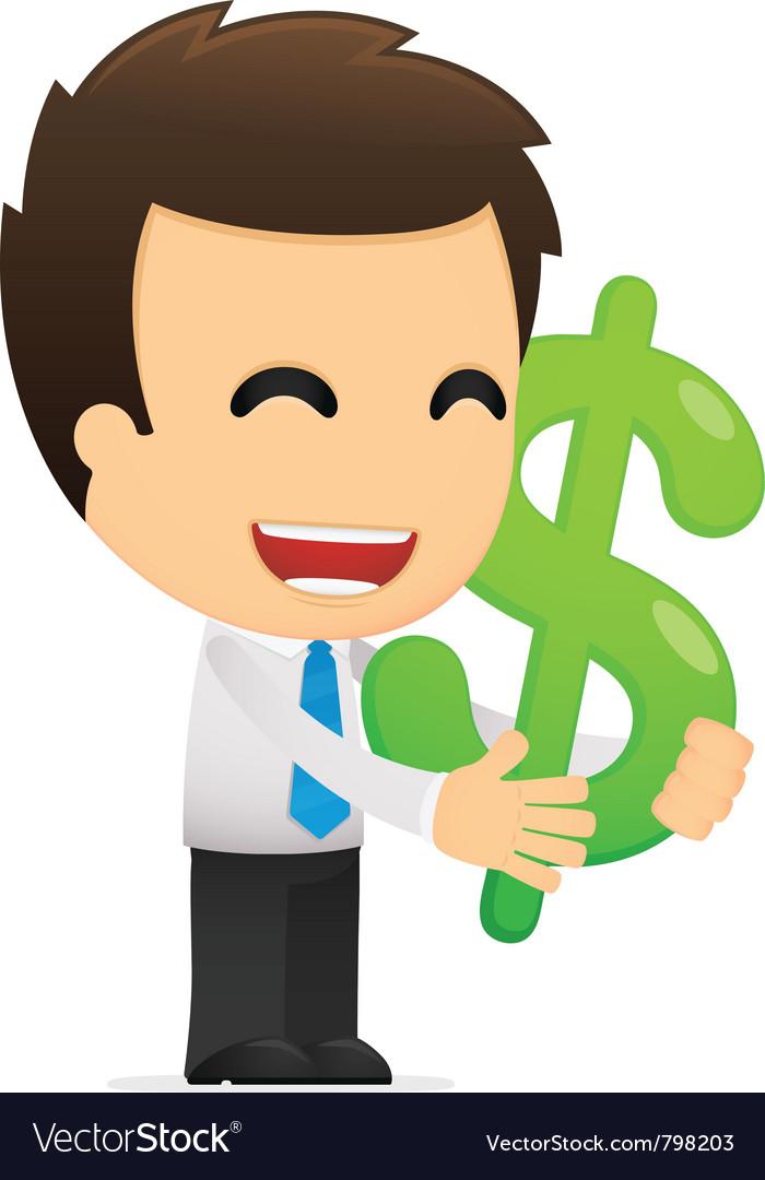 Funny cartoon office worker vector   Price: 1 Credit (USD $1)