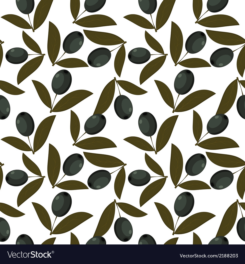 Seamless texture with olive fruits vector | Price: 1 Credit (USD $1)