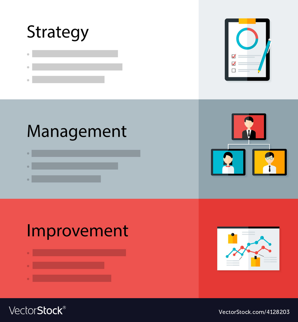 Strategy management improvement template vector | Price: 1 Credit (USD $1)
