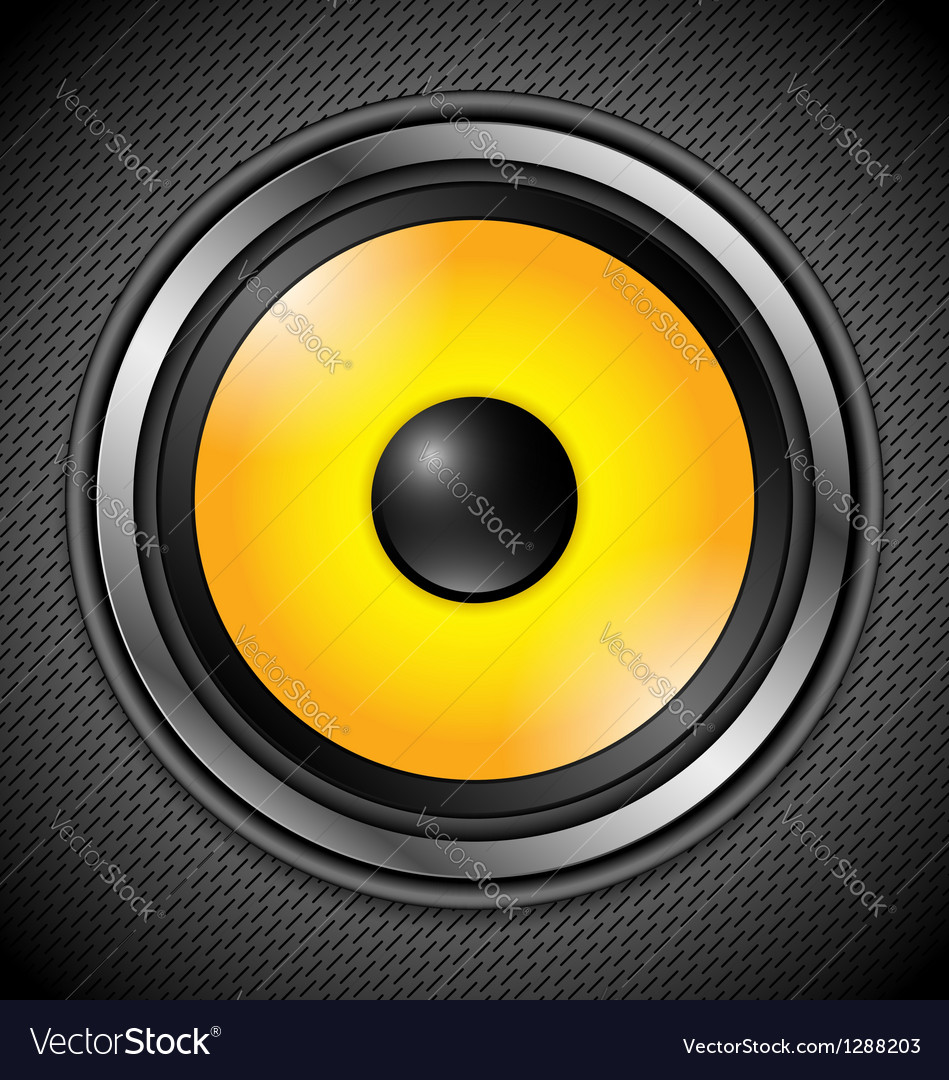 Yellow modern speaker vector | Price: 1 Credit (USD $1)