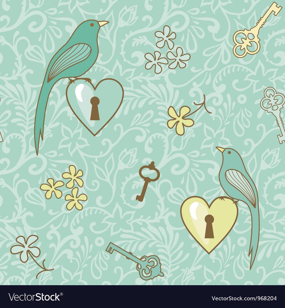 Birds keys patern vector | Price: 1 Credit (USD $1)