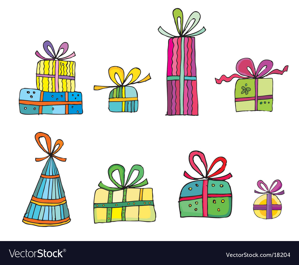 Cute colorful presents vector | Price: 1 Credit (USD $1)