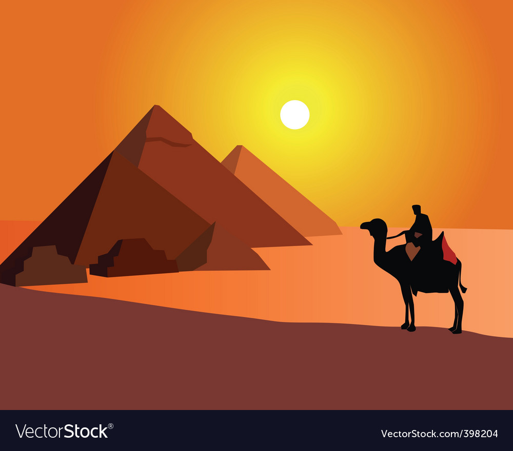 Egyptian pyramids vector | Price: 1 Credit (USD $1)