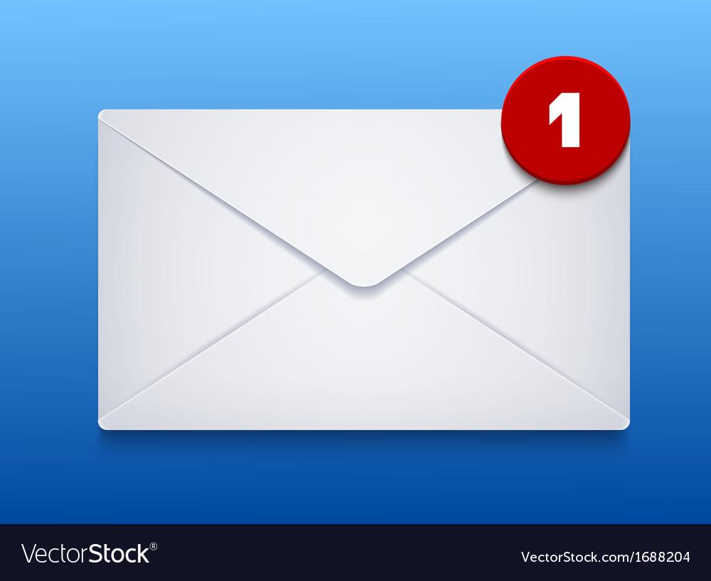 Envelope on blue background eps10 vector   Price: 1 Credit (USD $1)