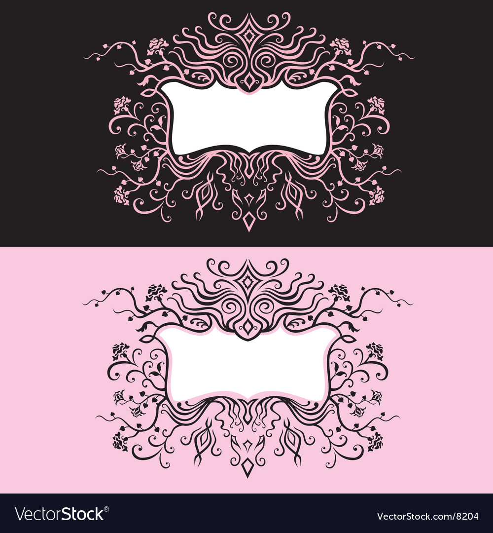 Frame floral elements vector | Price: 1 Credit (USD $1)
