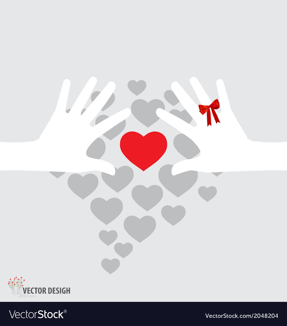 Hands holding hearts vector | Price: 1 Credit (USD $1)