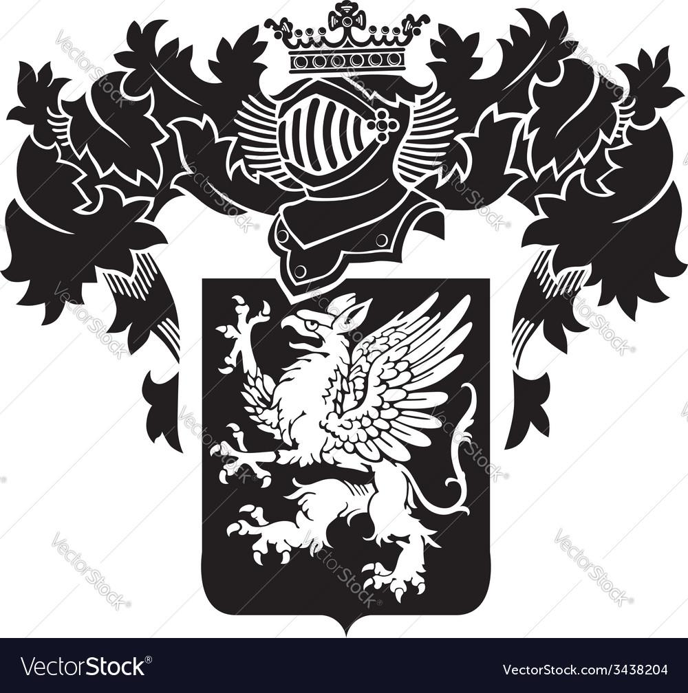 Heraldic silhouette no19 vector | Price: 1 Credit (USD $1)