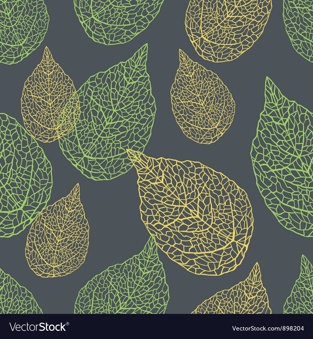 Leaves seamless stylish pattern vector | Price: 1 Credit (USD $1)