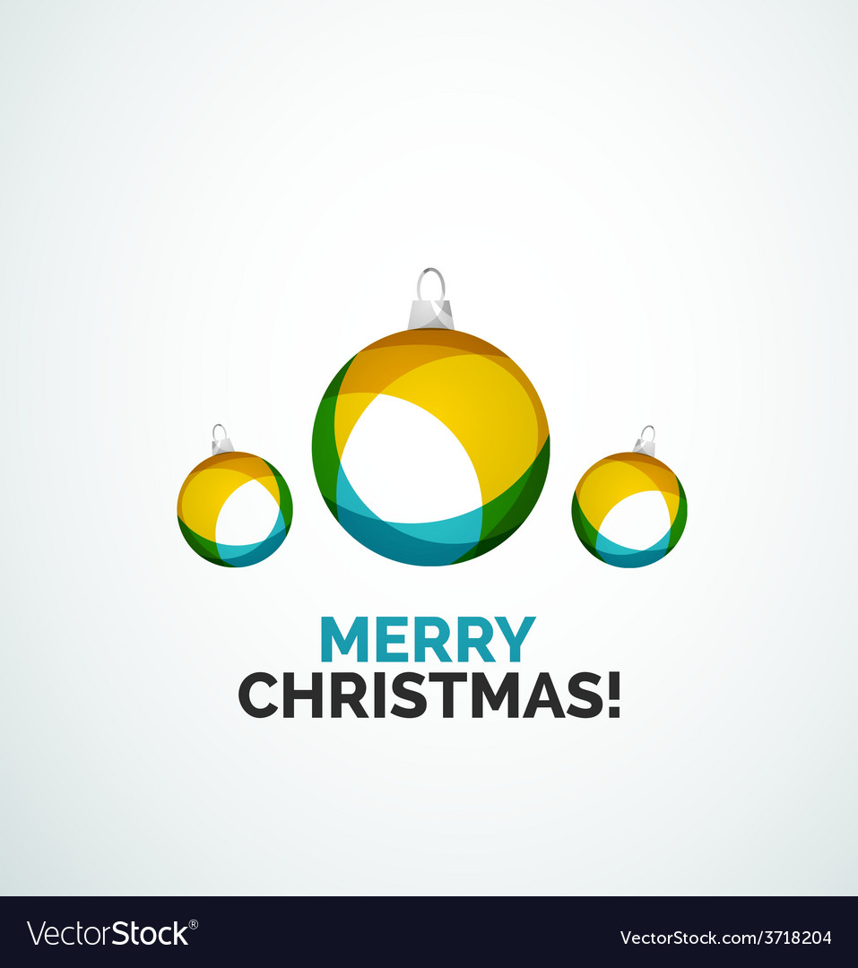 Merry christmas card - abstract ball bauble vector | Price: 1 Credit (USD $1)