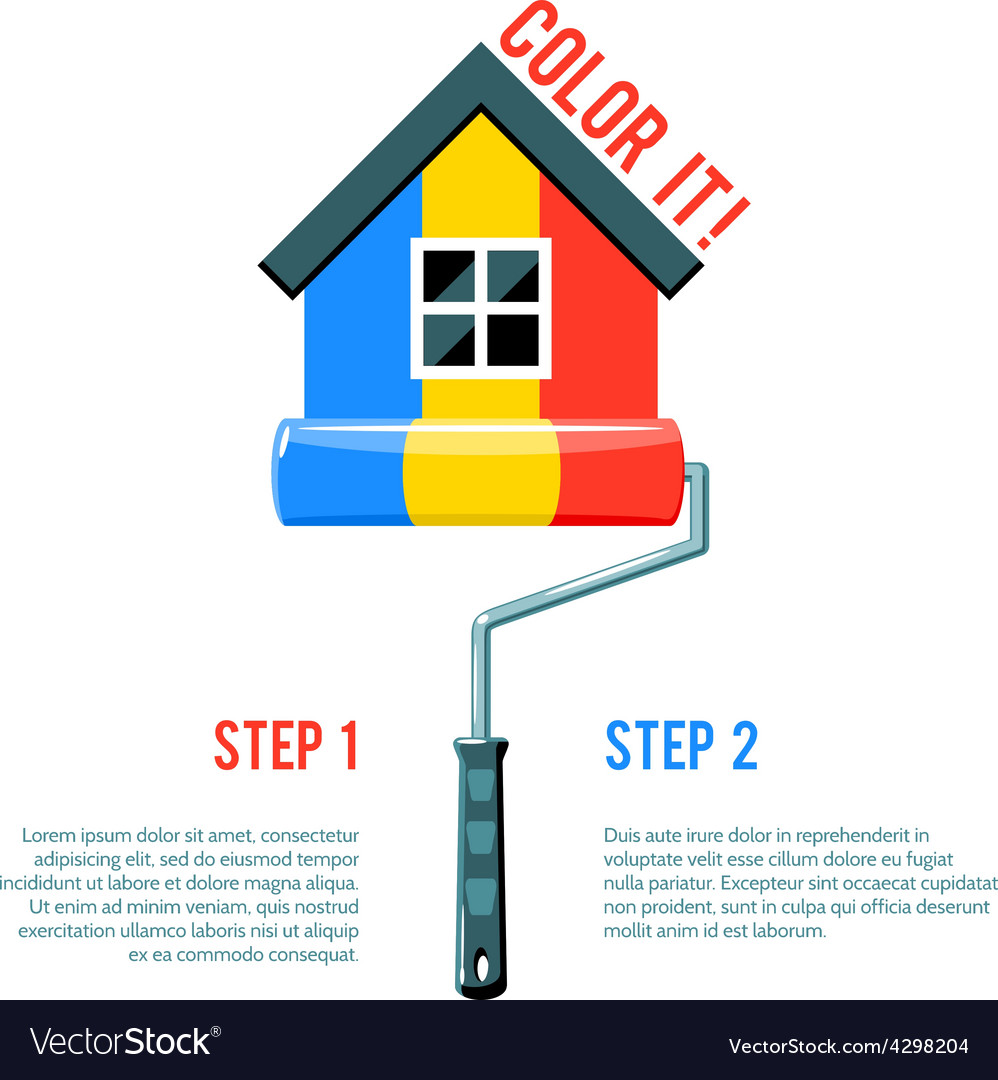 Paint house icon vector | Price: 1 Credit (USD $1)