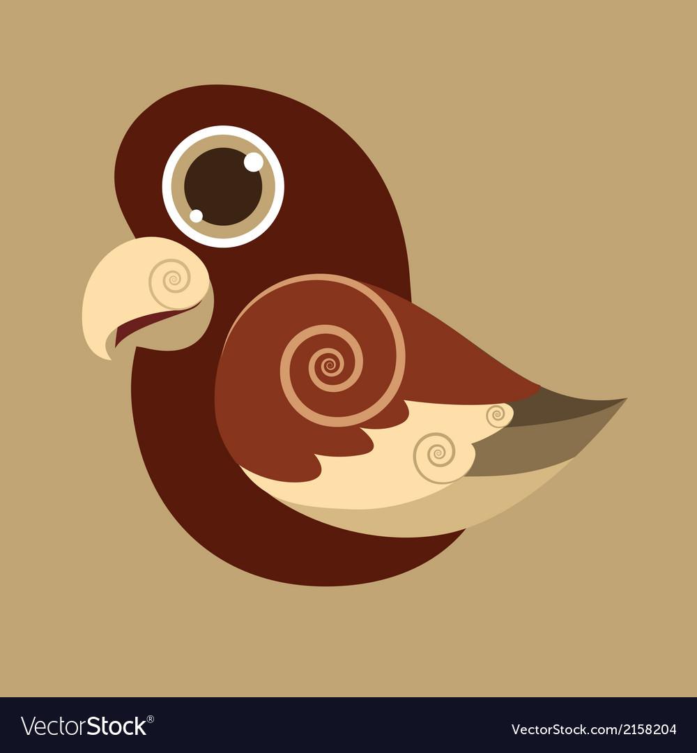 Pseudeosfuscata cute bird abstract prehistoric vector | Price: 1 Credit (USD $1)