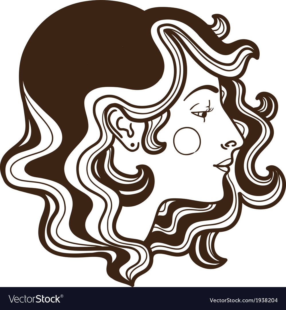 Stylish woman face vector | Price: 1 Credit (USD $1)