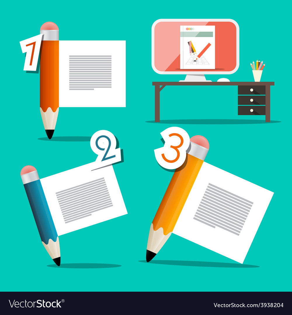 Three steps tutorial infographics design with vector | Price: 1 Credit (USD $1)