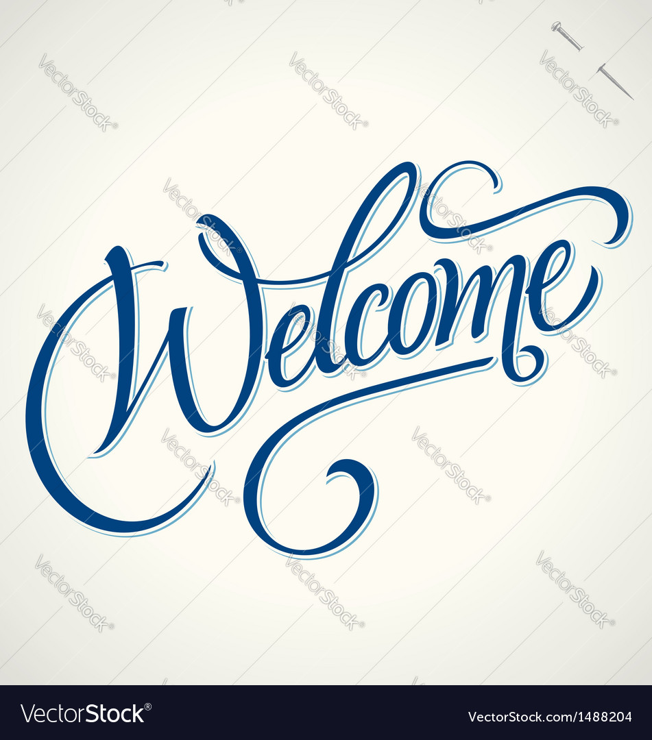Welcome hand lettering vector | Price: 1 Credit (USD $1)