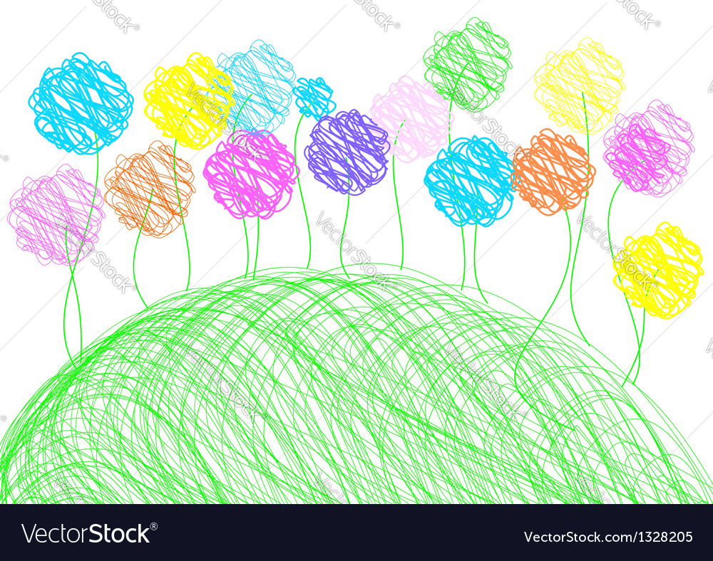 Childish drawing - background template vector | Price: 1 Credit (USD $1)