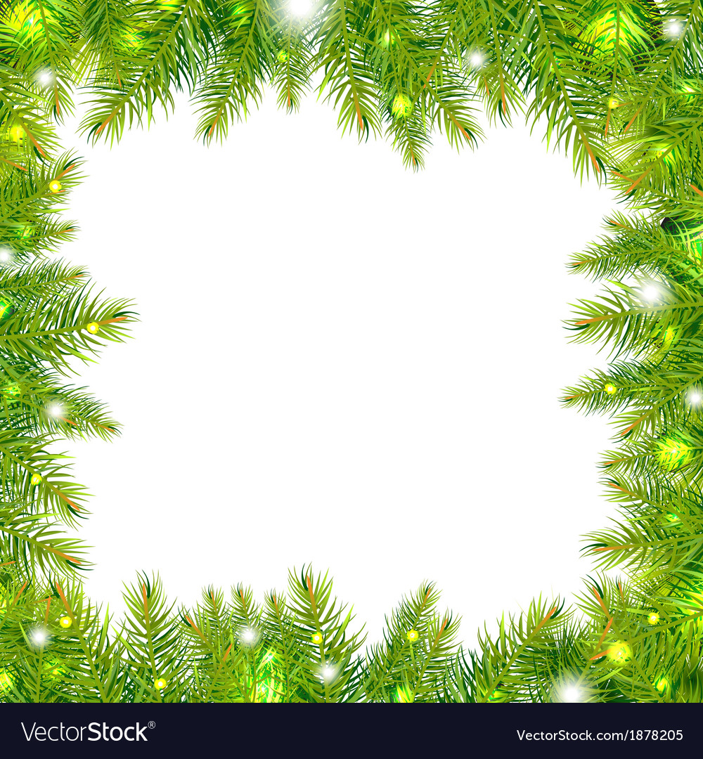 Christmas tree frame with stars vector   Price: 1 Credit (USD $1)